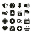 mobile application shield support location pin vector image vector image