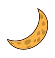 moon climate night isolated icon vector image