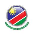 namibia flag button namibia flag icon of namibia vector image