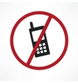 no cellphone sign vector image vector image
