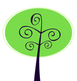 Ornamental Tree isolated on white vector image vector image