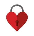 padlock shaped heart loved vector image vector image