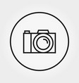 photo camera icon editable thin line vector image vector image