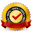 satisfaction warranty label vector image