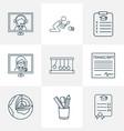 school icons line style set with gpa school
