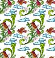 Seamless bird vector image
