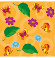 seamless flowers and butterflies vector image vector image
