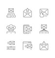 set line icons email marketing vector image