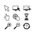 set mouse cursors hand cursor hourglass vector image vector image