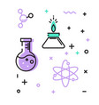 set of icons on the theme of science vector image vector image