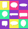 set of white speech bubbles with shadows icons set vector image vector image