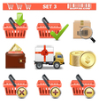 Shopping Icons Set 3 vector image vector image
