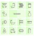 shower icons vector image vector image