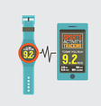 Sport Watch With Smartphone Activity Tracking vector image