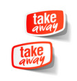 take away service label vector image