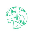 the earth day holiday logo vector image