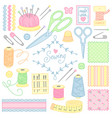 tools for sewing vector image vector image