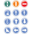 traffic symbols vector image