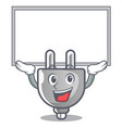 up board power plug stuck the cartoon wall vector image