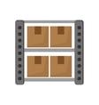 Warehouse goods storage icon vector image