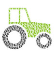 wheeled tractor collage of dollar and dots vector image