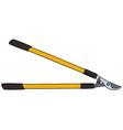 Yellow long garden shears