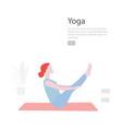 yoga flat minimal character vector image