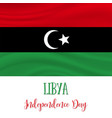 24 december libya independence day background vector image vector image