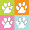 Animal paw colourful vector | Price: 1 Credit (USD $1)