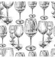 background sketches wine glasses vector image vector image