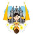 Balinese Girl vector image vector image