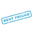 Best Friend Rubber Stamp vector image vector image