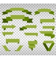 Big Collection of Design Retro Banners Green vector image vector image