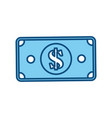 billet money symbol vector image vector image