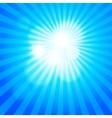 Blue winter sunshine in mosaic glass window vector image