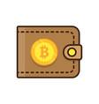 brown bitcoin wallet vector image