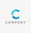 c logo template vector image