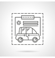 Car insurance flat line design icon vector image vector image