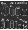 car motor and engine oil cans anti freeze water vector image vector image