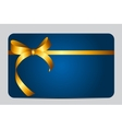 Card with Red Gift Ribbon vector image