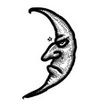 cartoon image of moon icon nighttime symbol vector image