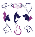 cats and dogs collection vector image vector image