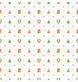 christmas seamless pattern with christmas wreath vector image