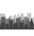 city skyline on white background urban landscape vector image vector image