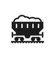 coal car icon on white background vector image vector image