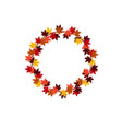 colorful circle leaves vector image vector image