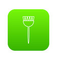 cosmetic brush icon green vector image vector image