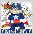 cute captain meowica vector image vector image