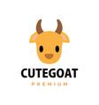 cute goat flat logo icon vector image