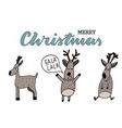 deer and christmas vector image vector image